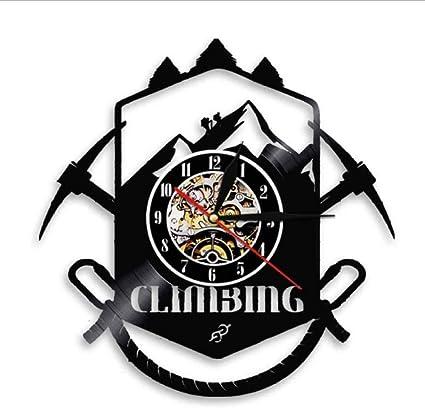 wffmx Logotipo De Escalada De Montaña Reloj De Pared Sendero ...