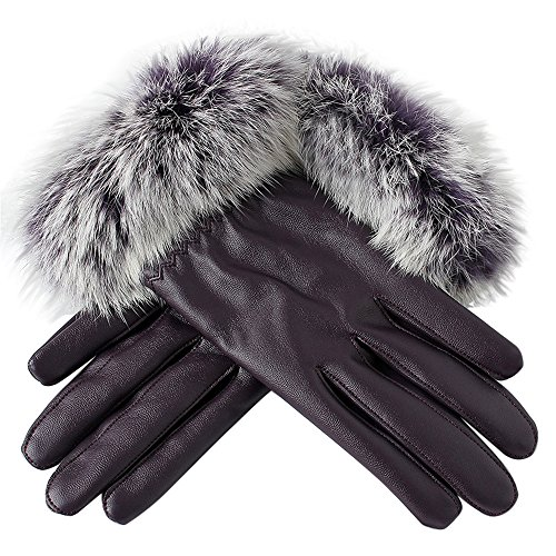 [해외]LuluZanm Winter Warm Mittens for WomenLadies Black Leather Outdoor Velvet Gloves Plush Thick Gloves / LuluZanm Winter Warm Mittens for Women,Ladies Black Leather Outdoor Velvet Gloves Plush Thick Gloves