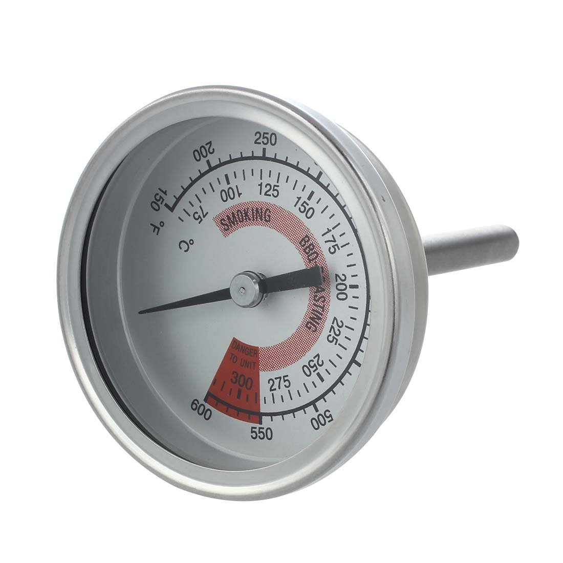 SODIAL(R) Barbecue BBQ Pit Smoker Grill Thermometer Gauge 300