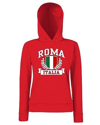 T-Shirtshock - Sudadera Hoodie para Las Mujeras TSTEM0246 Roma Italia, Talla L: Amazon.es: Ropa y accesorios