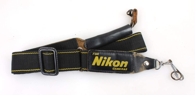 Camera Strap Wide Black Nikon