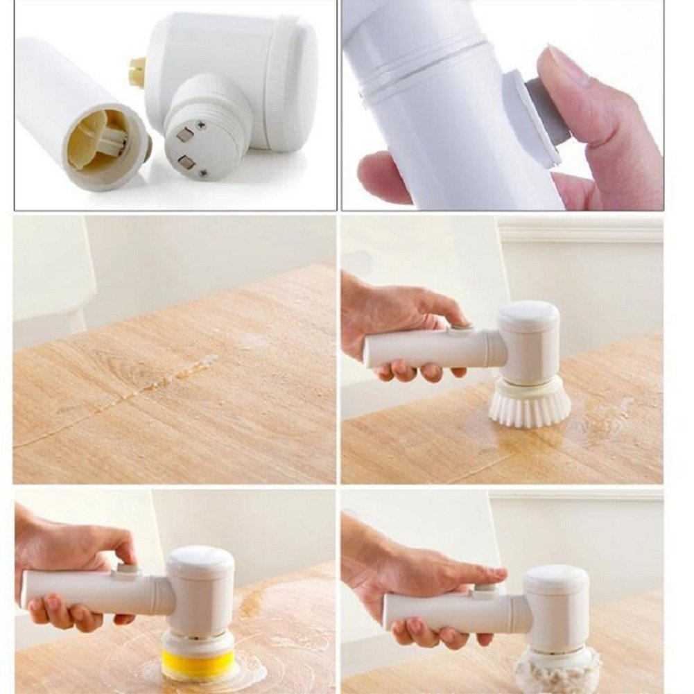 Amyove Handhold Electric Cleaning Brush for Bathroom Tile and Tub Kitchen Washing Tool by Amyove (Image #3)