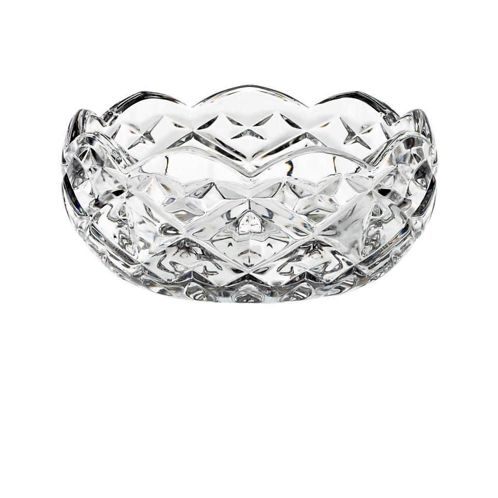 Bowl, fruit bowl, salad bowl HILLARY, transparent, Ø 12,5 cm, lead crystal, modern style (GERMAN CRYSTAL powered by CRISTALICA) Ø 12
