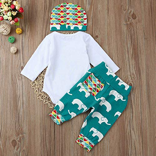 Chapeau White Lettre 3pcs Romper De Tops animal Fille Garçon Hello Long Tenues World Ensemble Vêtements Chshe Pantalon Cartoon Bébé 4q7XUU