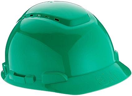 3M H700NGP - H700 Casco con ventilación, verde, arnés de ruleta