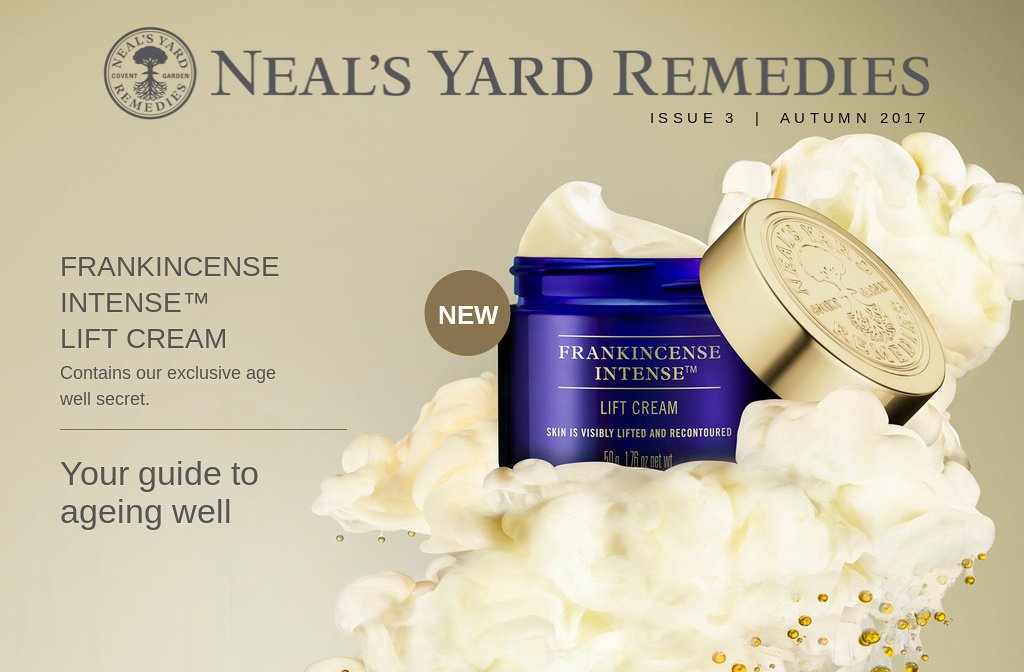 Neal's Yard Remedies - Frankincense Intense Lift Cream | helps to redefine your facial contours, leaving your jawline feeling firmer and cheeks more taut Neal' s Yard Remedies