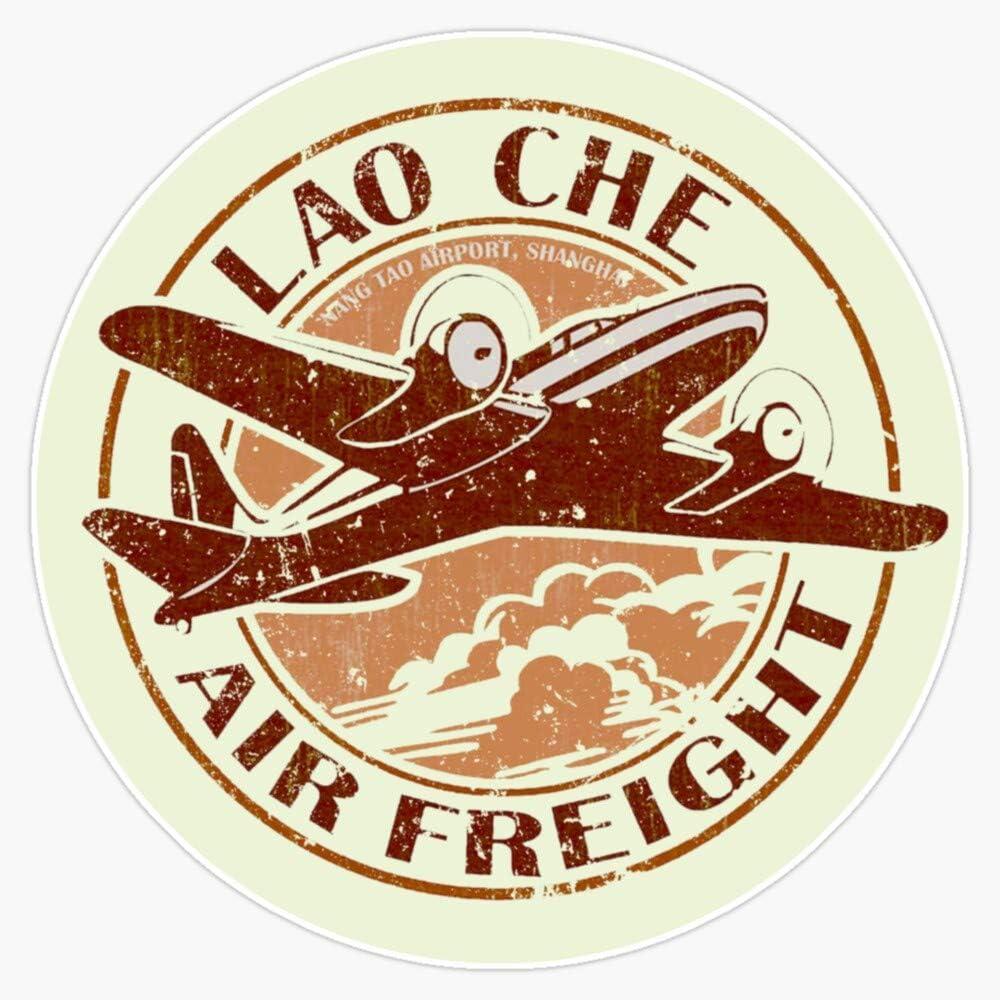 "EMC Graphics Indiana Jones - Lao Che Air Freight Vinyl Waterproof Sticker Decal Car Laptop Wall Window Bumper Sticker 5"""
