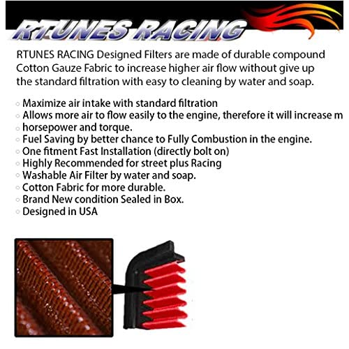 free shipping rtunes racing cold air intake black / red / blue filter kit  for 2003