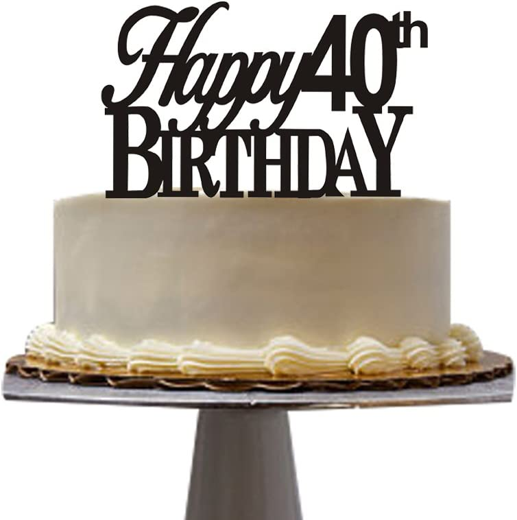 Fine Amazon Com Happy 40Th Birthday Cake Topper 40Th Birthday Party Funny Birthday Cards Online Inifodamsfinfo