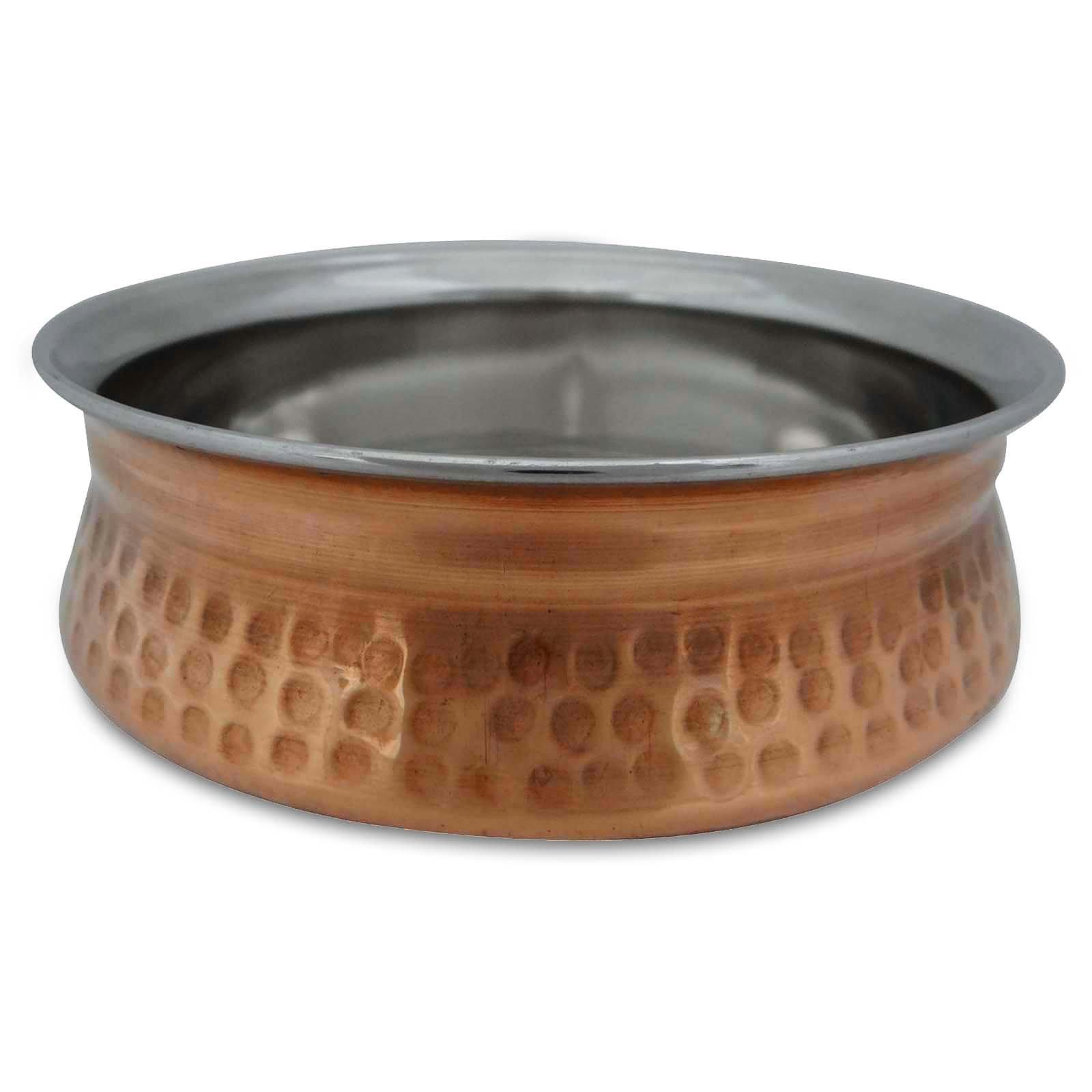 Copper Steel Serving Bowl Kitchen Dinnerware Utensil Tableware India