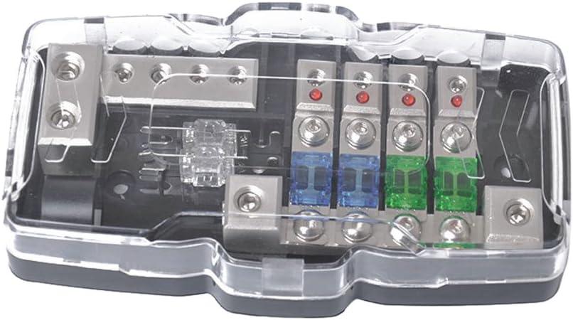 30A// 60A Homyl 4-Fach Auto KFZ Sicherungskasten//Sicherungshalter//Sicherungstr/äger//Sicherungsblock 12V-24V