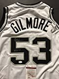 "Autographed/Signed Artis Gilmore ""HOF 11"" San Antonio Spurs White Basketball Jersey JSA COA"