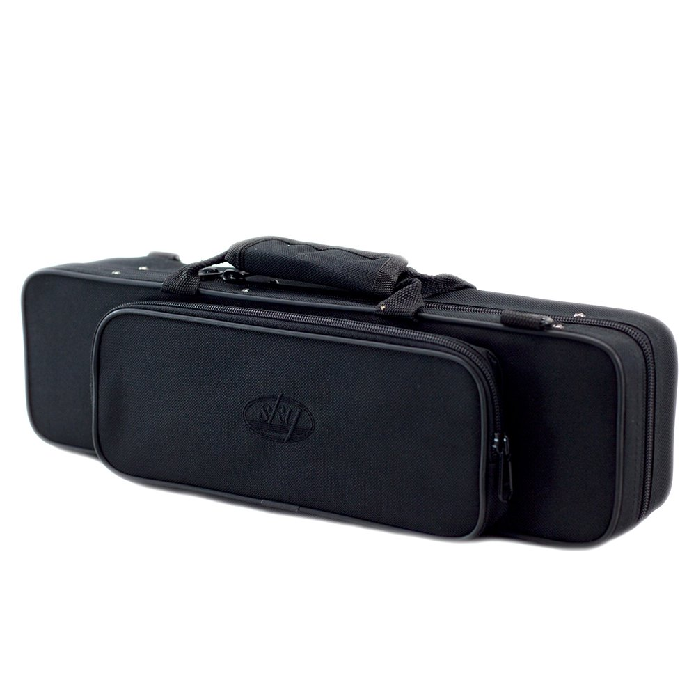 Sky(Paititi) ''C'' Flute Lightweight Case with Shoulder Strap (Black)