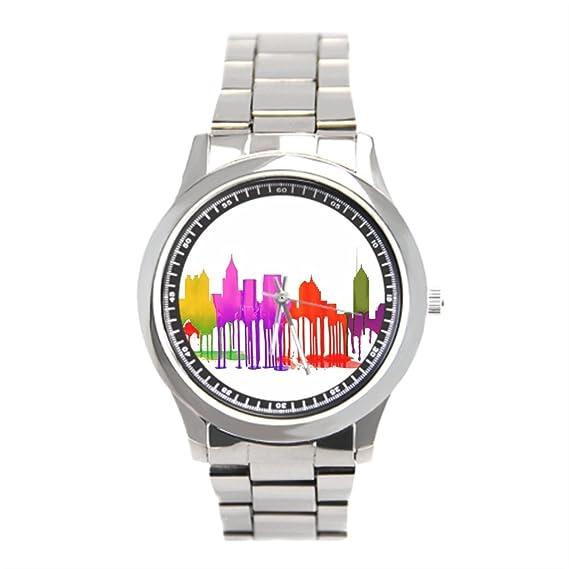 eleganceelegant Atlanta Georgia Atlanta Georgia USA Skyline acero inoxidable relojes hombres