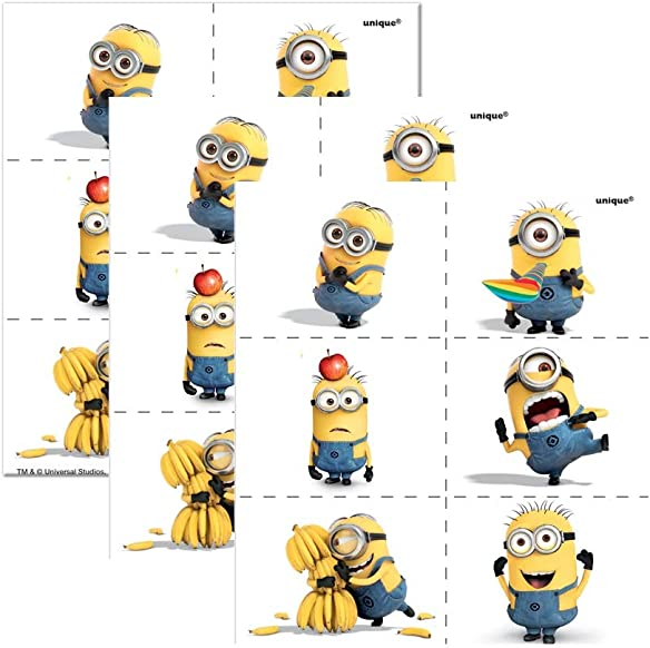 Despicable Me Tattoos, 24ct 3