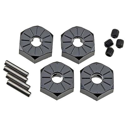 Axial AX30427 Aluminum Hub Narrow (4-Piece), 12mm, Black: Toys & Games