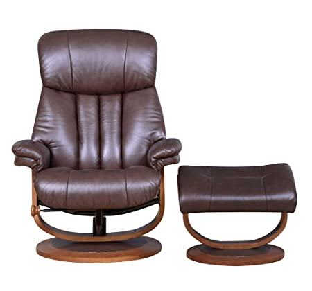 The Hereford   Genuine Top Grain Leather Swivel Recliner Chair (Saddle  Brown): Amazon.co.uk: Kitchen U0026 Home