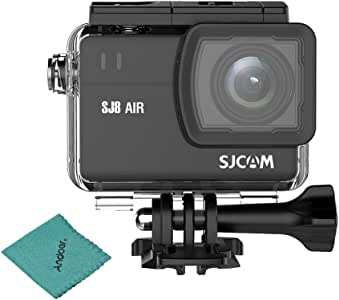 SJCAM SJ8 AIR Action Camera Sports Cam 12MP 1296P 2.3inch Touchscreen with 160°Wide Angle Lens Diving HD Camcorder Waterproof Case and Mounting Accessories Kits with Andoer Cleaning Cloth