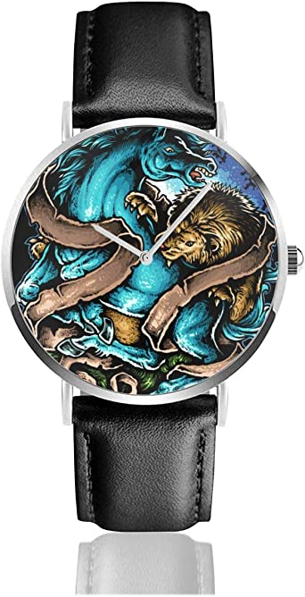 Reloj de Pulsera de Cuarzo con diseño de Tatuaje de león y ...