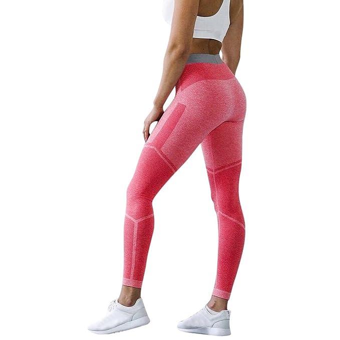 Mallas Deportivas Mujer Pantalones Impresión Color Sólido ...