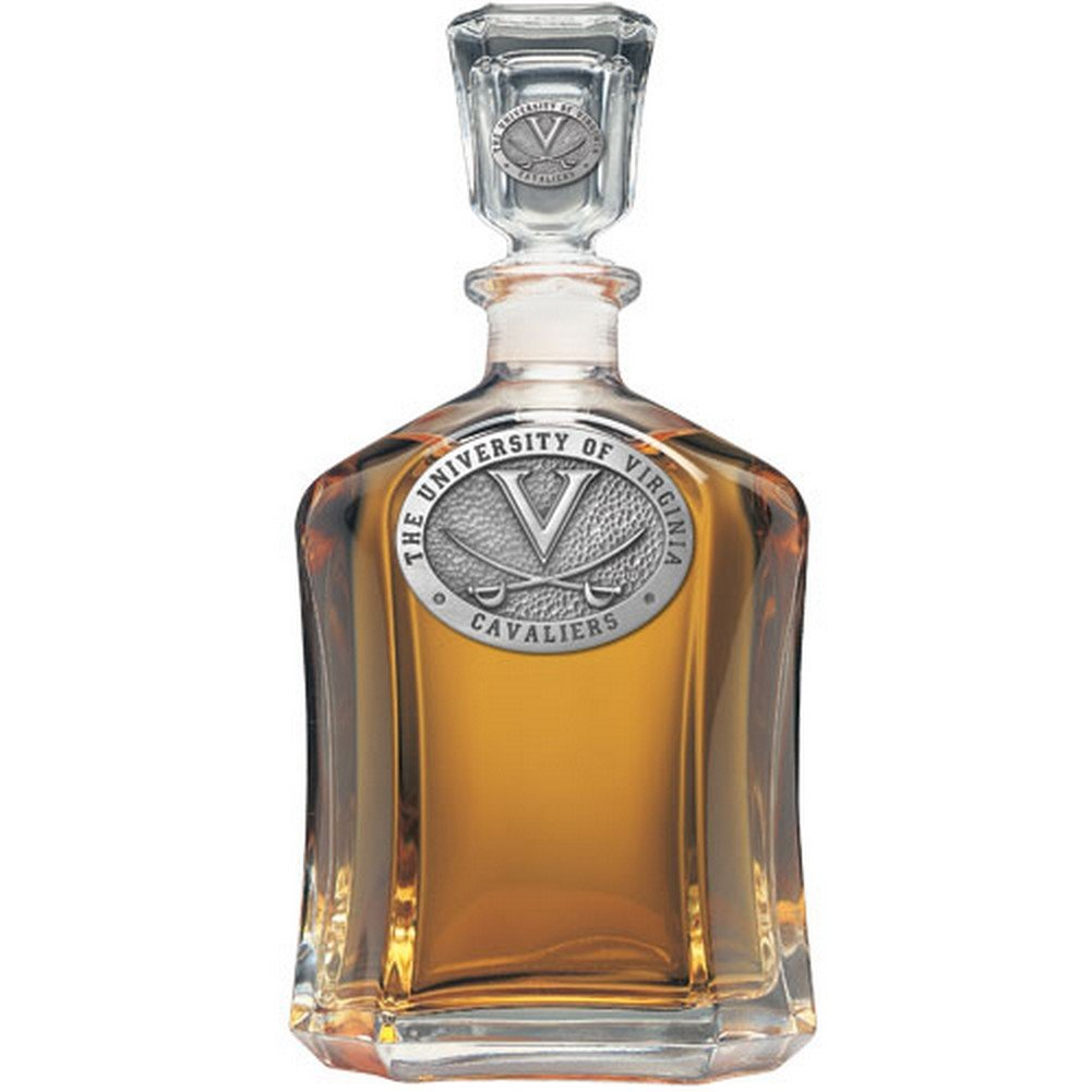 Virginia Cavaliers Glass Capitol Decanter (Spirit Holder) 24 oz - NCAA College Athletics