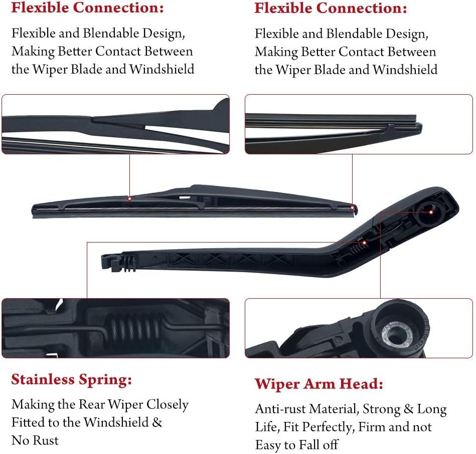 Automotive 68040371AA Rear Wiper Arm Blade Set for Dodge Journey ...