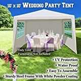 BenefitUSA Wedding Party Tent 10'x10' Gazebo BBQ Pavilion Canopy Cater Events Outdoor Dancing Camping