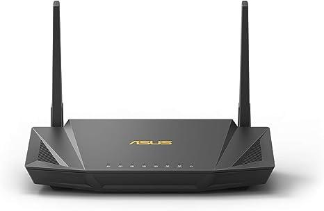 ASUS RT-AX56U - Router Broadcom Quad Core WiFi 6 AX1800 Doble Banda Gigabit (OFDMA, WPA3, MU-MIMO, 1024QAM, IPSec VPN y Servidor VPN, Modo Punto ...