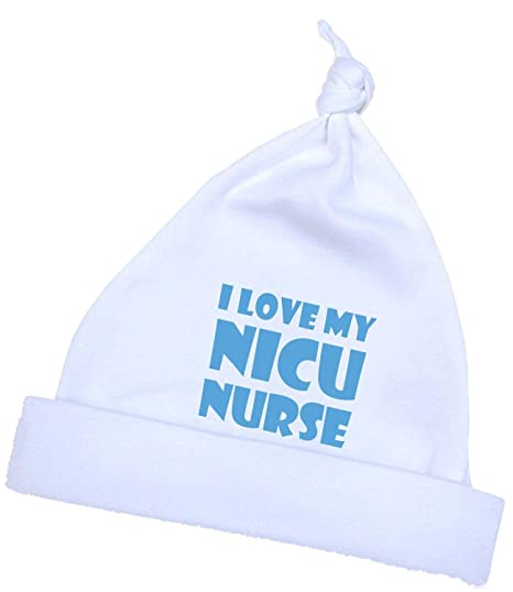 69a7bc0ee BabyPrem Preemie Baby Hat I Love My NICU Nurse Boys Girls Clothes 1.5-7.5lb