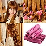 6Pcs Women Flower Design Sponge Hair Curler Maker Roller Rods Salon DIY Tool