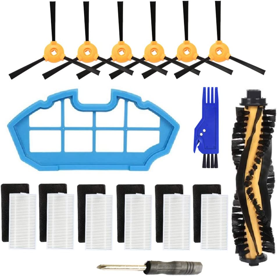 Replacement Parts for Ecovacs DEEBOT N79 N79S DN622 Robotic Vacuum Cleaner - Main Brush,Filter,Side Brush Accessory Kit