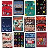 12 Modern Male Birthday Greeting Cards