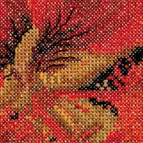 492A Vorsortierte DMC-Garne Thea Gouverneur Aida Gez/ählter Kreuzstich Kit 15cm x 14cm DIY Kit Ostindische Kirsche