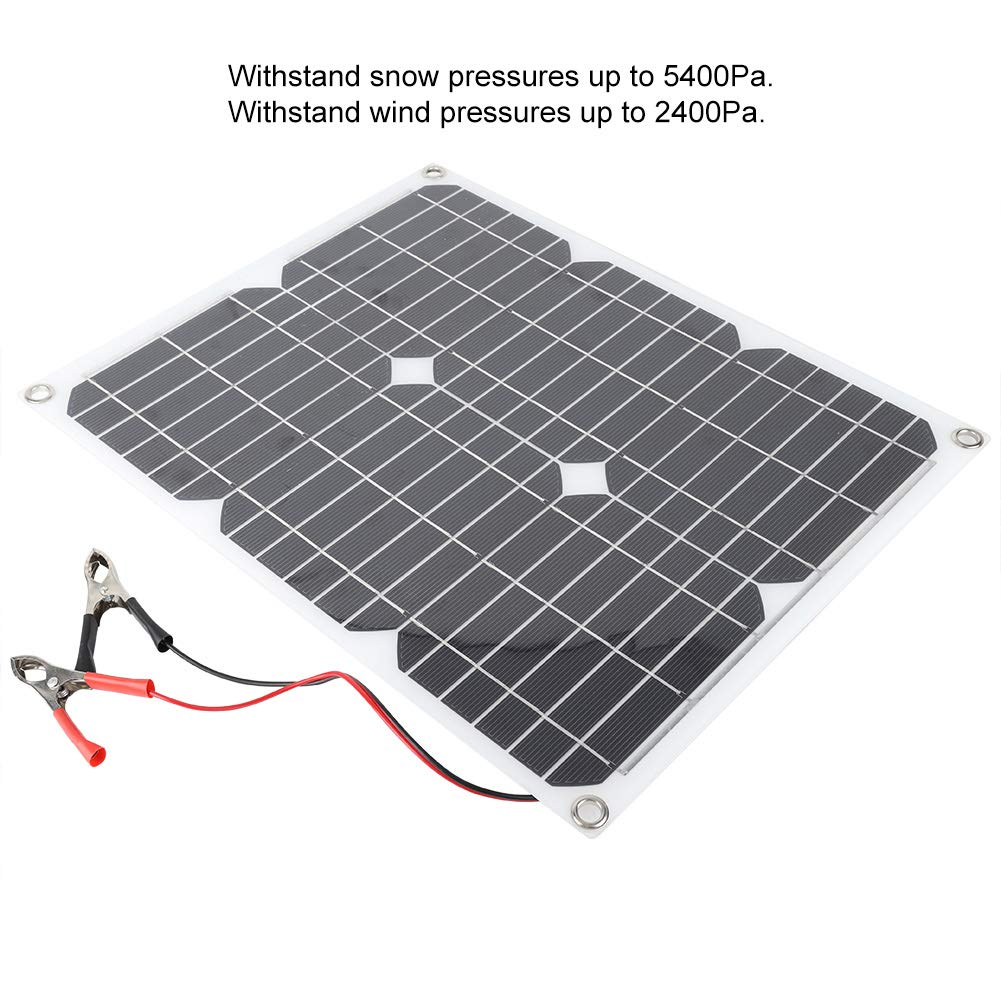 Panneau solaire monocristallin 18 V 25 W Mini panneau solaire portable monocristallin Chargeur 4 coins Per/çage
