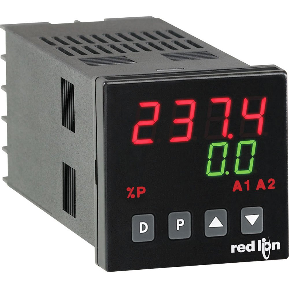 50//60 Hz 2 Alarms and Remote Setpoint Red Lion P48 1//16 DIN Process Controller with Main Analog//Relay Output 85-250VAC
