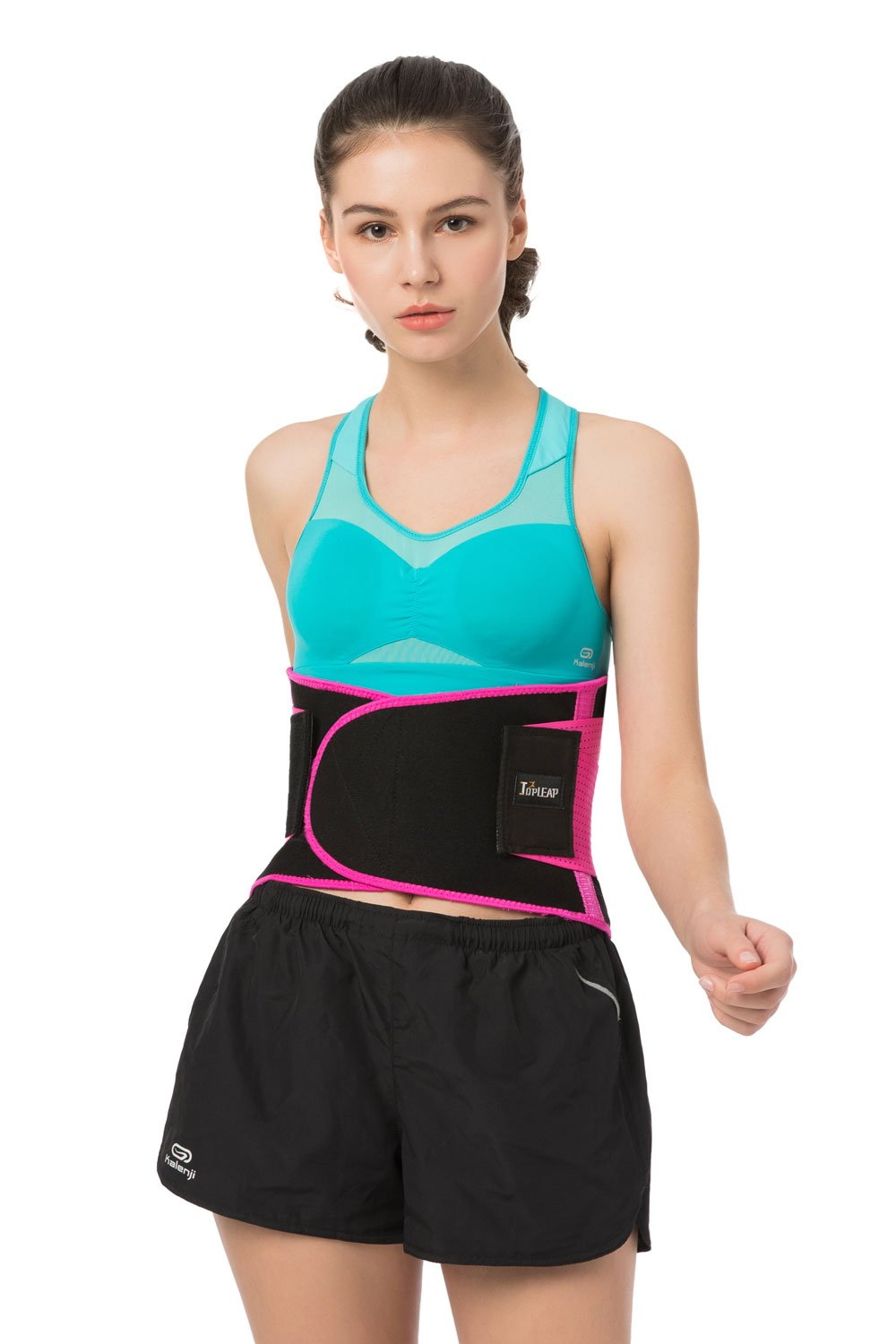 TOPLEAP Lower Back Brace Lumbar Support Belt for Women Men with Breathable Mesh and Dual Adjustable Straps Relieve Low Back Pain