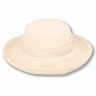 7a51cc991dc sungrubbies Packable Sun Travel Hat Regular Size for Women Natural Color  Crushable Lightweight with Wide Brim