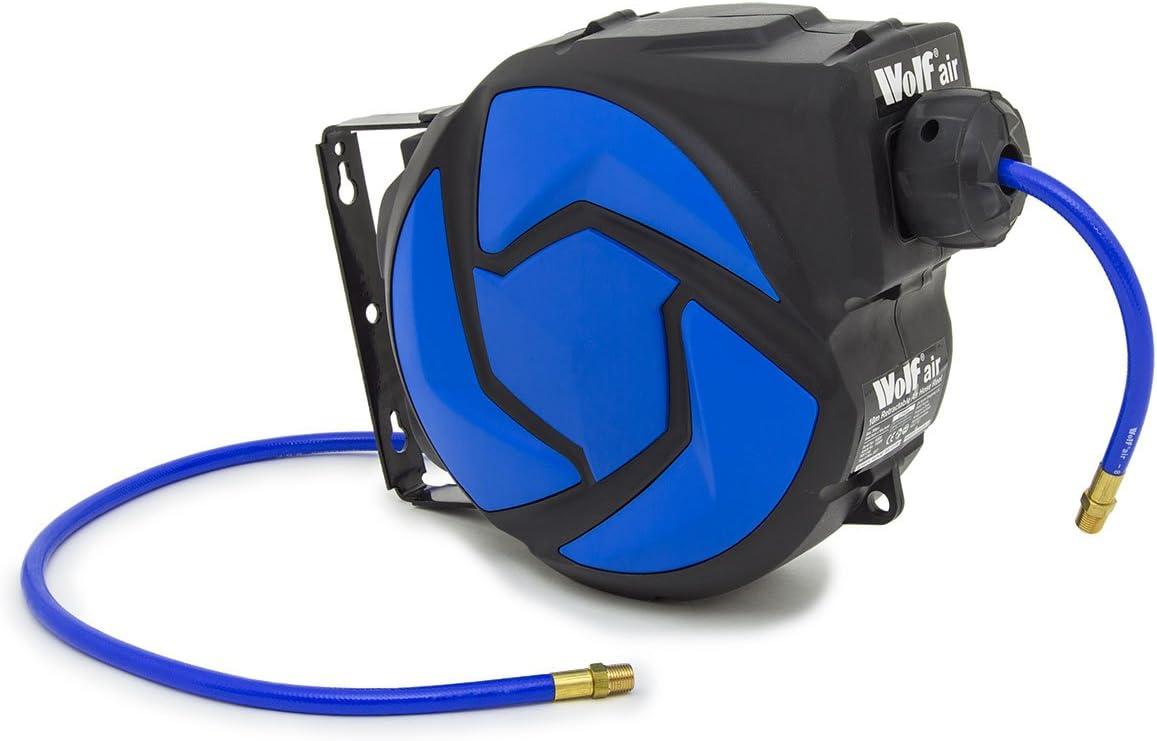 "Wolf Air 10m /¼/"" BSP 8mm Bore Retractable Air Hose Reel 2 Years Warranty"