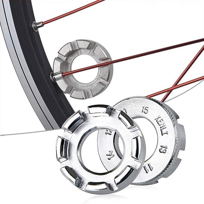 Hunt Gold - Llave de radios para llantas de bicicleta, color dorado, plateado: Amazon.es: Bricolaje y herramientas