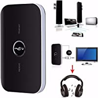 HiFi Wireless Bluetooth Audio Transmitter Receiver 3.5MM RCA Music 2 in1 Adapter