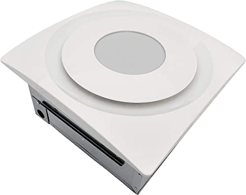 Aero Pure AP904-SL W Quiet Bathroom Ceiling Ventilation Fan, White