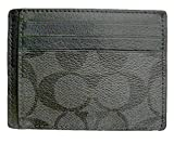 Coach Card Case ID Signature PC Charcoal Black F75027CQBK