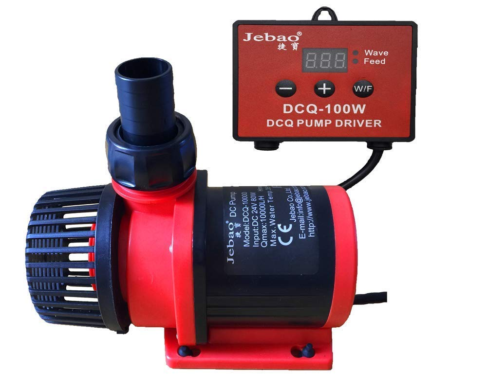 Jebao New 80W 10000LPH DC Controllable Water Return Pump with Wave Function DCQ-10000(2650GPH) by Jebao/Jecod