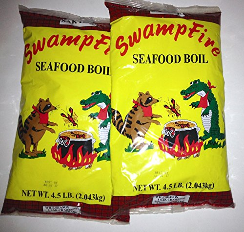 Swamp Fire Seafood Boil (Crawfish, Crab, Shrimp) 4.5# (2pk) by Swamp Fire