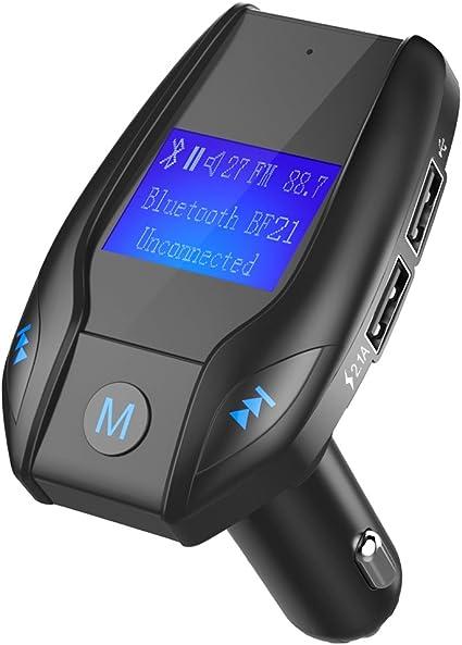 Transmisor de radio Bluetooth para coche con 3 tipos de