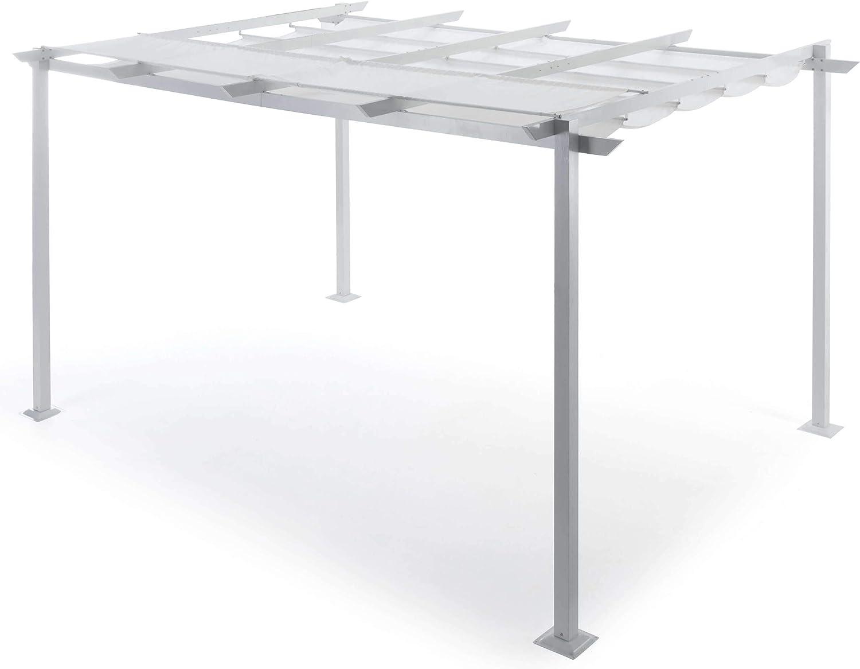 Taddi Pérgola de jardín retráctil 3 x 4 m de Aluminio Sug S ...