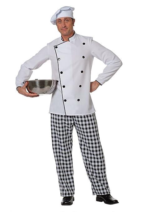 Hombre traje cocinero, tamaño 50 - 60: Amazon.es: Juguetes y ...