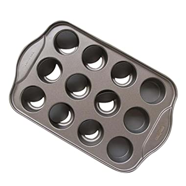 Tosnail 12 Cavity Mini Cheesecake Pan with 24 Pieces Removable Bottom