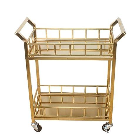 Amazon.com - Wine Tea Beer Cart Metal Wine Rack with Wheels ...