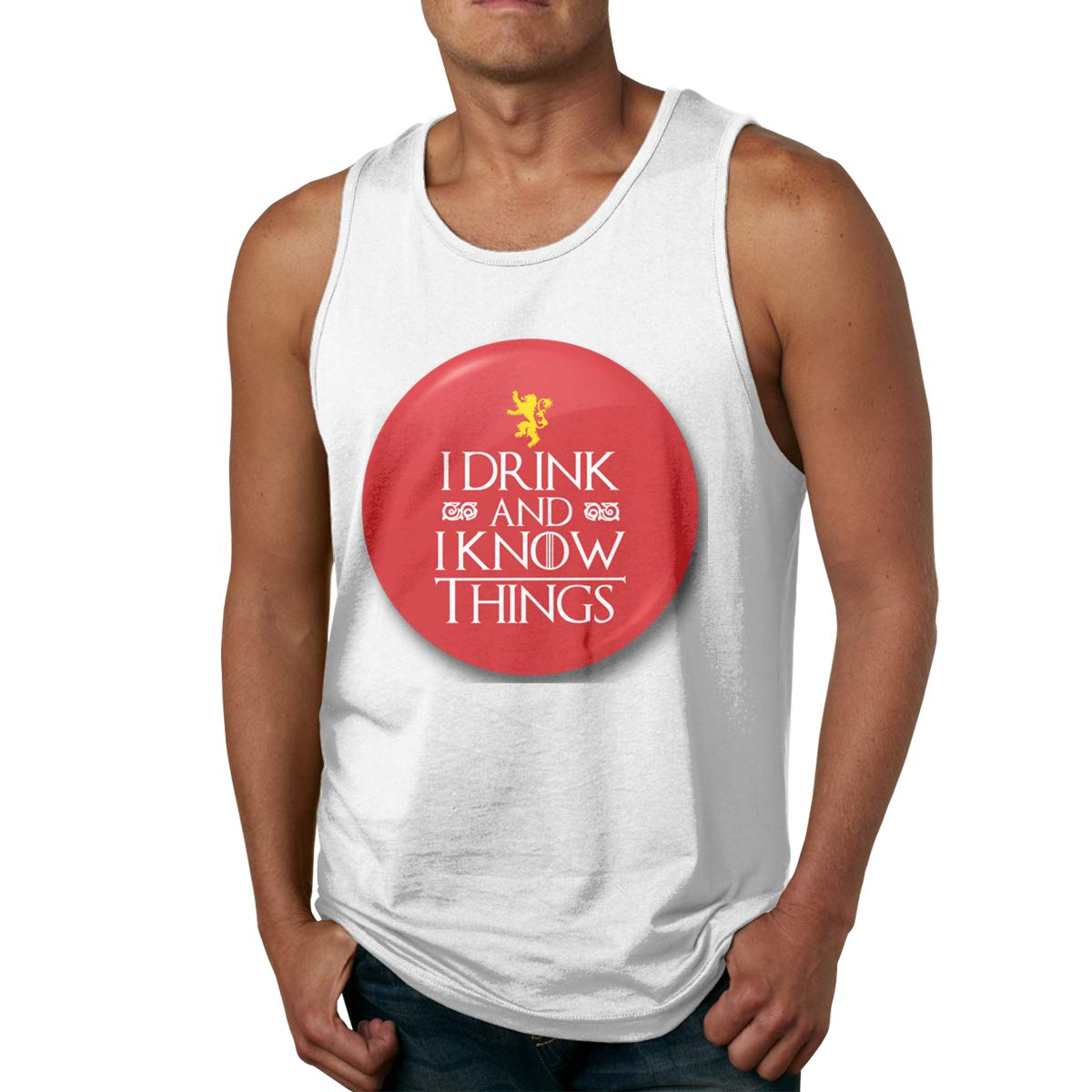Mens Tank Tops Thrones Drink and Know Things Shirts Summer Undershirts Tees Muscle T Shirt Top